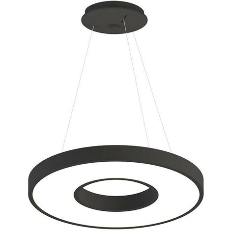 Lámpara colgante BERING 40W, negro, Triac regulable, Ø60cm, Blanco neutro, regulable