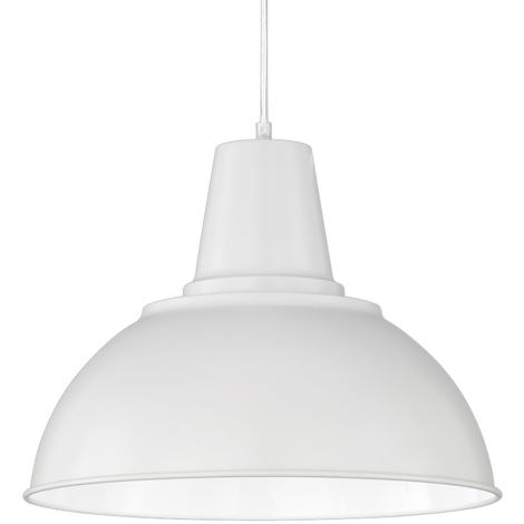 Lámpara colgante blanca de metal modelo Lowa E27 (Trio Lighting R30431031)