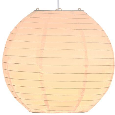 Lámpara colgante blanca E27 Ø30 cm