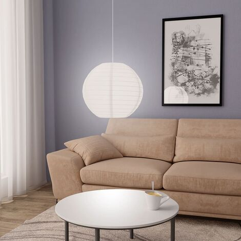 Lámpara colgante blanca E27 Ø45 cm