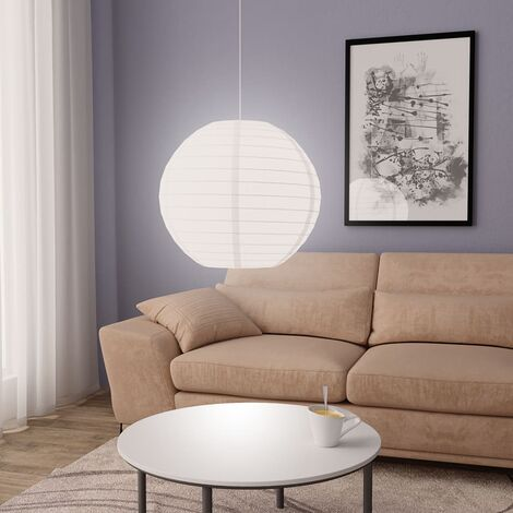 Lámpara colgante blanca E27 Ø60 cm