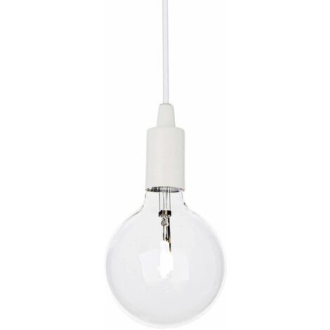 Lámpara colgante blanca EDISON 1 bombilla