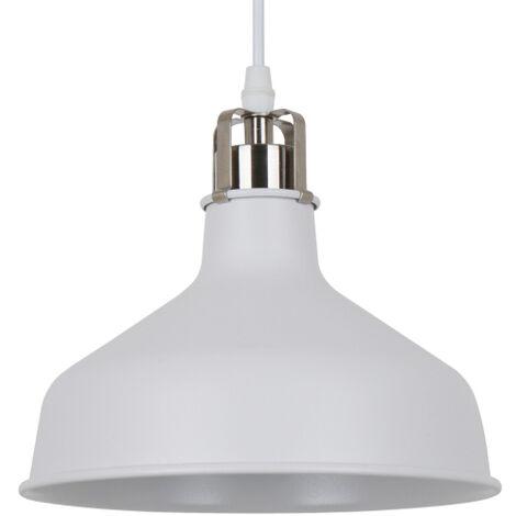 Lámpara colgante blanca modelo Mulbek E27 210x130mm. (Ledesma 21451)