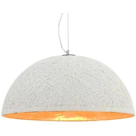 Lámpara colgante blanco y dorado E27 Ø50 cm