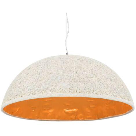 Lámpara colgante blanco y dorado E27 Ø70 cm