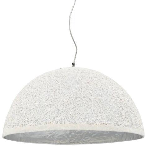 Lámpara colgante blanco y plateado E27 Ø50 cm