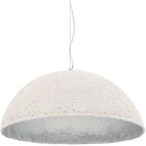 Lámpara colgante blanco y plateado E27 Ø70 cm