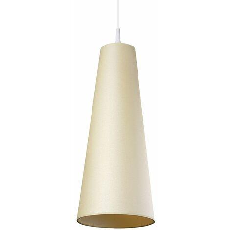 Lámpara colgante cocina comedor iluminación textil techo colgante lámpara crema Spotlight 1117101