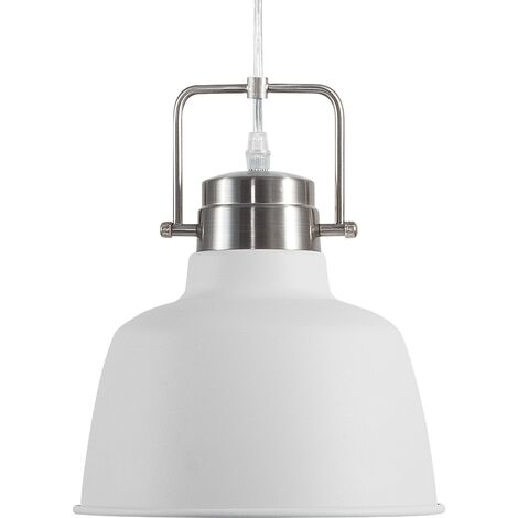 Lámpara colgante color blanco/plateado NARMADA