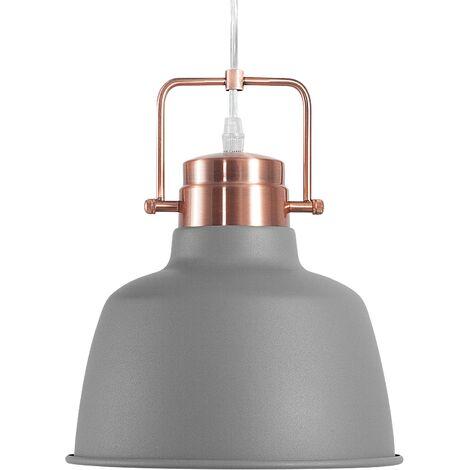 Lámpara colgante color gris/cobrizo NARMADA
