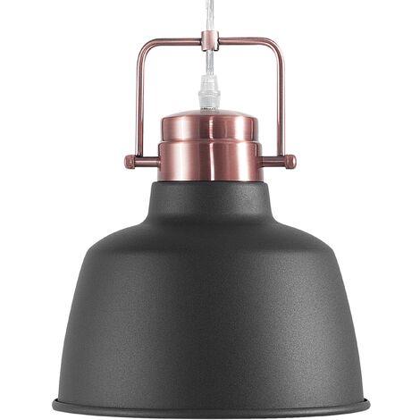 Lámpara colgante color negro/cobrizo NARMADA