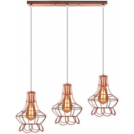 Lampara Colgante Combinación 3 Luces de Florero Moderno Creativo Iluminacion Grupo de 3 vias Palo para Cocina Sala de estar Entrada Cafe