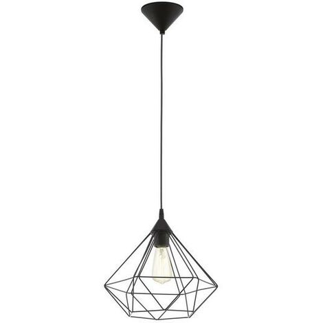 Lámpara colgante con jaula negra 220-240 V IP20   negro