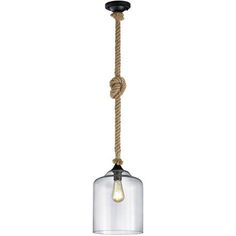 Lámpara colgante con tulipa de cristal Judith E27 (Trio Lighting 302900102)