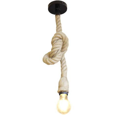 Lampara colgante cuerda vintage 1 brazo E27