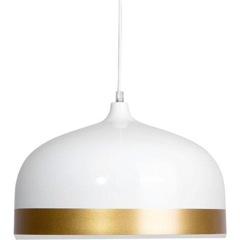 Lámpara colgante de color blanco/dorado PARINA