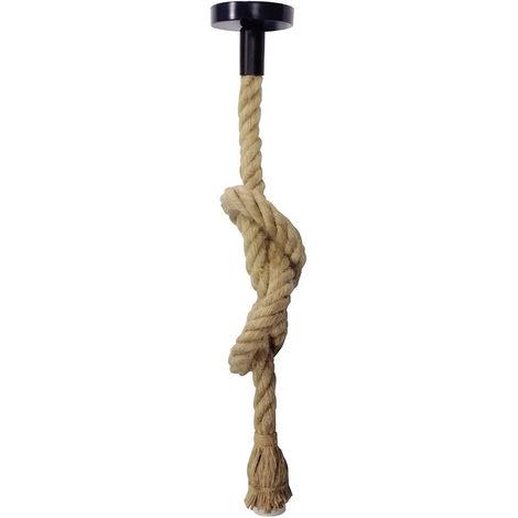 Lámpara colgante de cuerda rústica