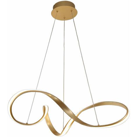 Lámpara colgante de diseño Apia 1 Bombilla Dorada arenada