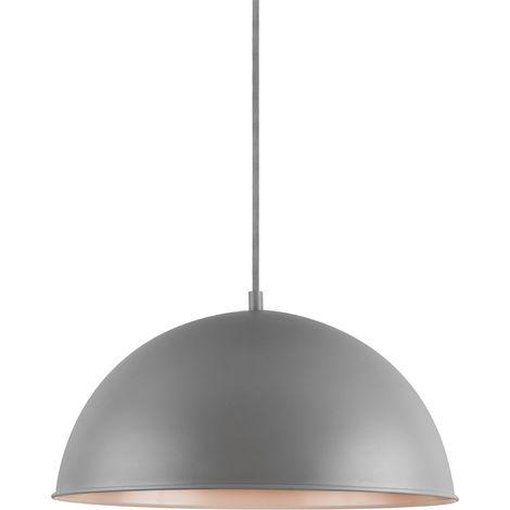 Lámpara colgante de diseño moderna gris - de metal - pantalla Ø: 40 cm