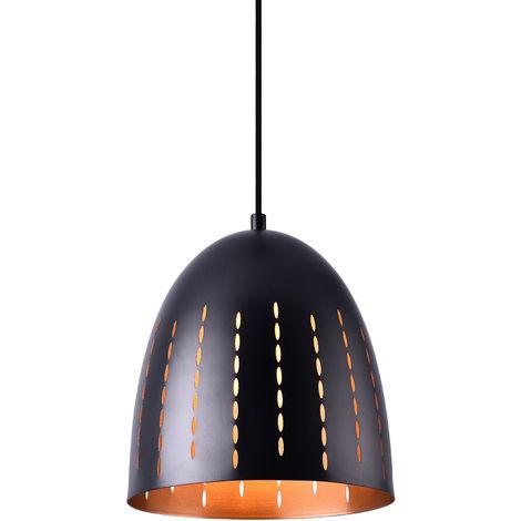 Lámpara colgante de diseño negra - cobre metal