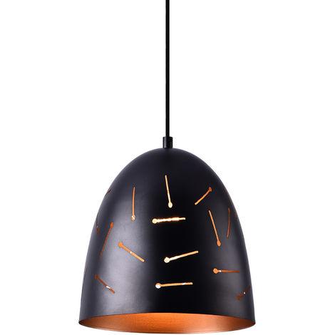 Lámpara colgante de diseño negra - cobre metal - look industrial