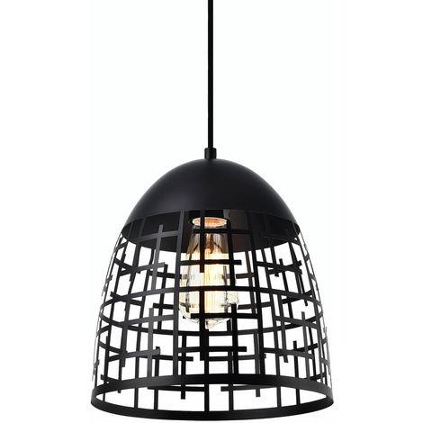 Lámpara colgante de diseño negra metal - 1 x E27