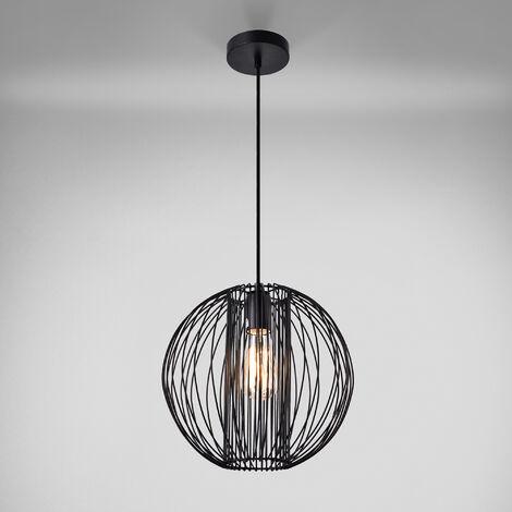 Lámpara colgante de diseño negra metal