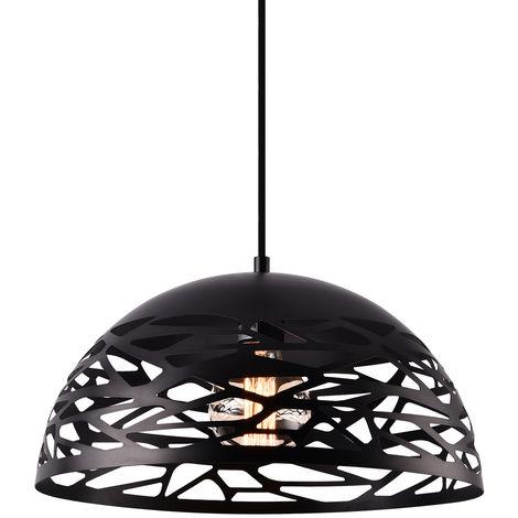 Lámpara colgante de diseño negra metal - look industrial