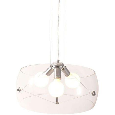 Lámpara colgante de diseño, pantalla cristal transparente