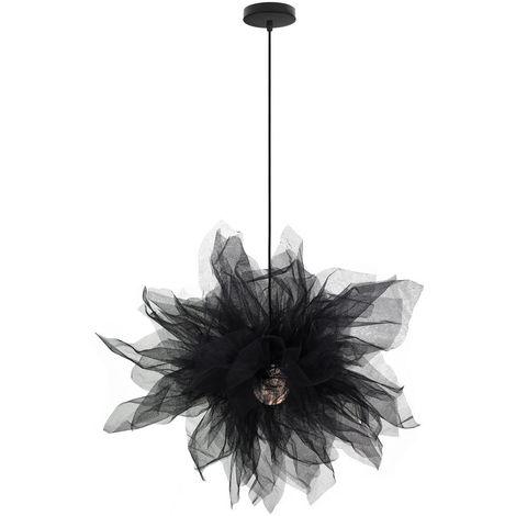 Lámpara Colgante de Gasa Tul Romantico Moderno Personalidad Luz de Techo Princesa Linda Decoración para Niñas Comedor Dormitorio Sala