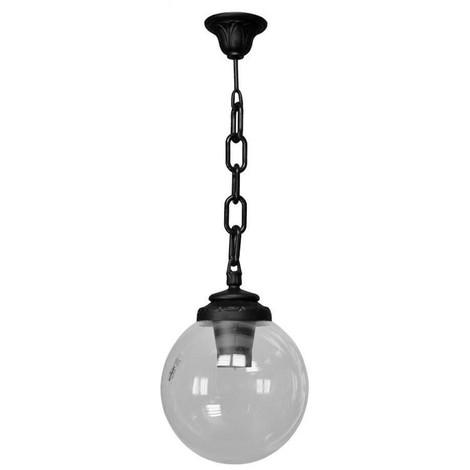 Lámpara colgante de globo FUMAGALLI SICHEM E27 | Negro
