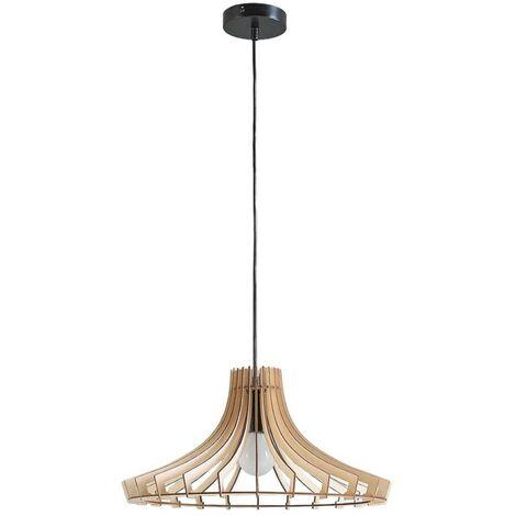 Lámpara colgante de madera Bela, Ø 47 cm