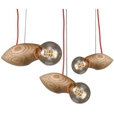 "Lámpara colgante de madera triple ""NAKAI"""