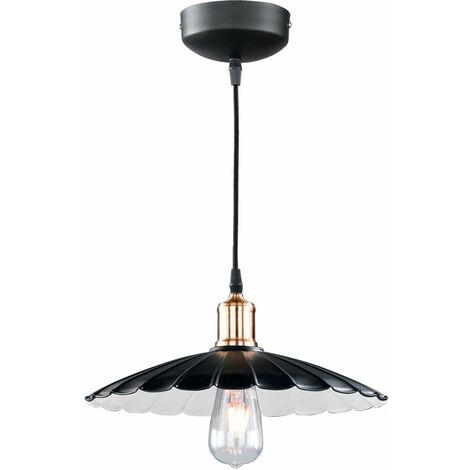 Lámpara colgante de metal colgante de oro con luz colgante en el set incluyendo bombillas LED