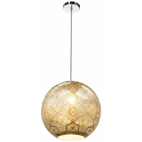 Lámpara colgante de péndulo de techo, accesorio de iluminación, pantalla de cromo, decoración, salón, comedor
