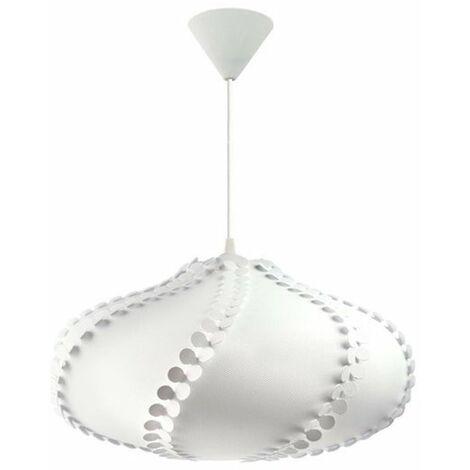 Lámpara colgante de PVC blanca Spinny