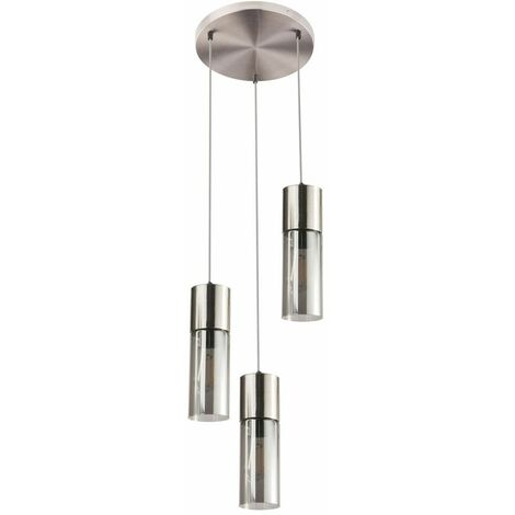 Lámpara colgante de techo cilindro iluminación de comedor lámpara colgante de humo de vidrio Globo 21000-3HN