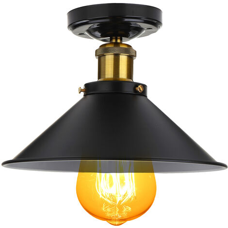 Lámpara colgante de techo de metal estilo loft vintage industrial moderno