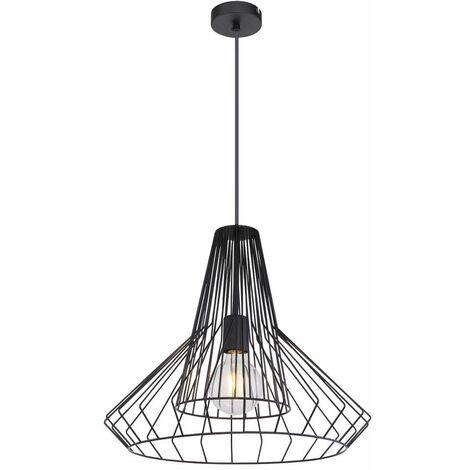 Lámpara colgante de techo diseño de celosía negra de metal iluminación de lámpara colgante
