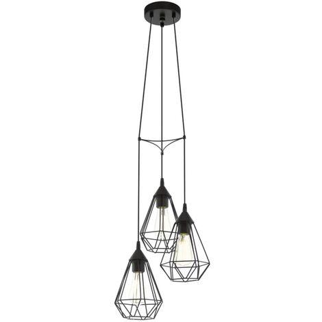 Lámpara colgante de techo, negra, EGLO Tarbes 94191