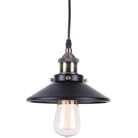 Lámpara Colgante Edison 160 – Aluminio Negro
