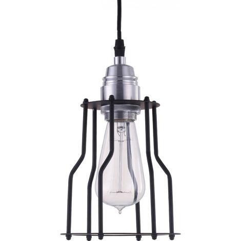 Lámpara Colgante Edison Jaula – Aluminio Negro