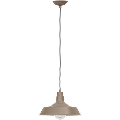 Lámpara Colgante Edison Pantalla de Color – Acero de carbono