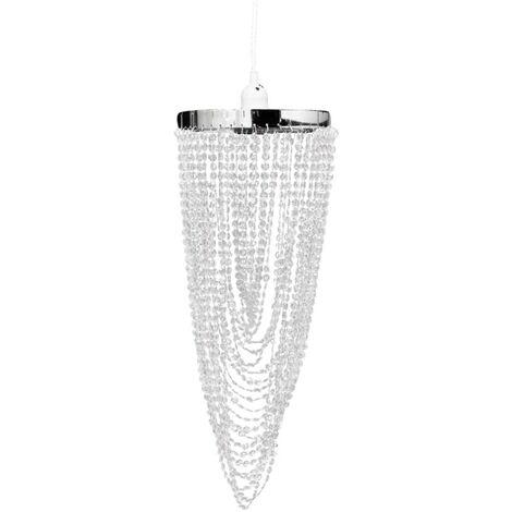 Lámpara colgante elegante con cristales, 22 x 58 cm
