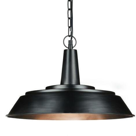 - Lámpara colgante en estilo industrial, hecho de metal, 133 x 41 x 41 cm, Zócalo E27, color negro