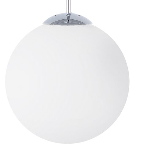 Lámpara colgante en vidrio blanco BARROW S