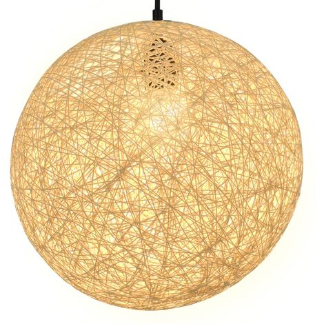 Lámpara colgante esférica color crema E27 35 cm