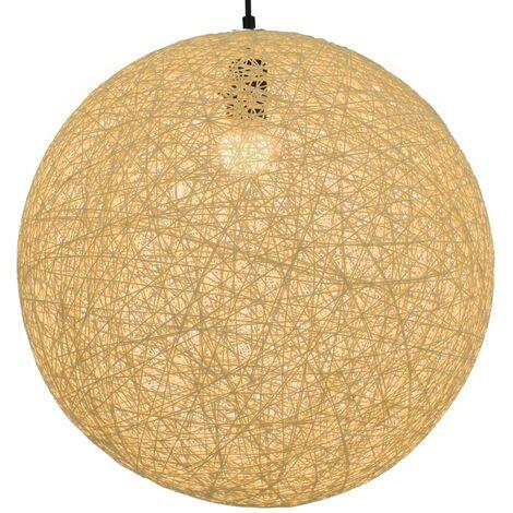 Lámpara colgante esférica color crema E27 45 cm