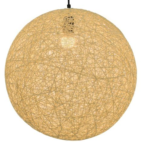 Lampara colgante esferica color crema E27 45 cm