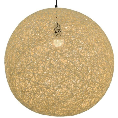 Lampara colgante esferica color crema E27 55 cm